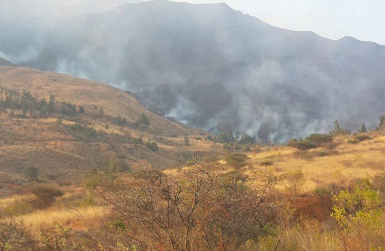 Cerro arde en Churubamba