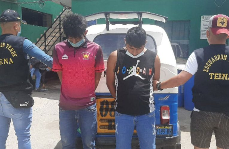 En persecución capturan a dos por robo de celular