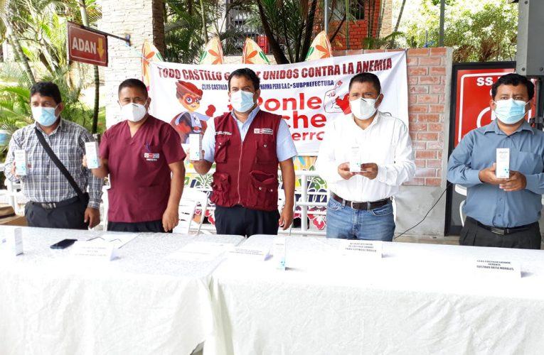 Donan mil jarabes  para niños con anemia  en Castillo Grande